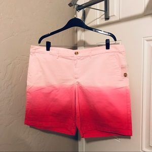NWT gap pink ombré shorts boyfriend fit